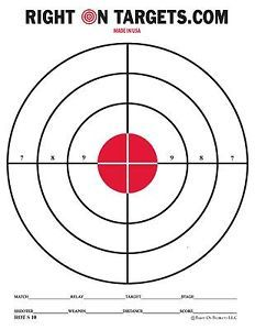 150 red bullseye shooting targets 3 85x11 pads of 50 new target