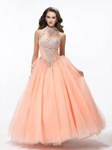 351b7b7554 Vestidos para xv años color durazno 1