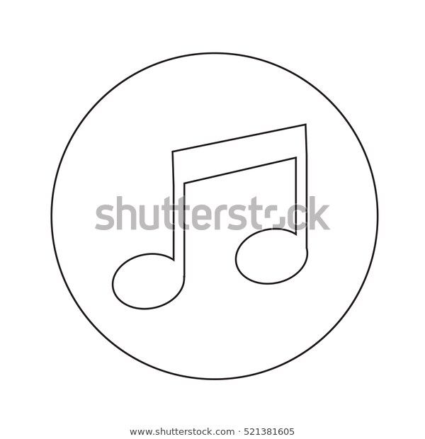 Note Music Melody Musical Sound Symbol Background Vector Illustration Isolated Graphic Clef Black In 2020 Icon Illustration Illustration Design Music Notes