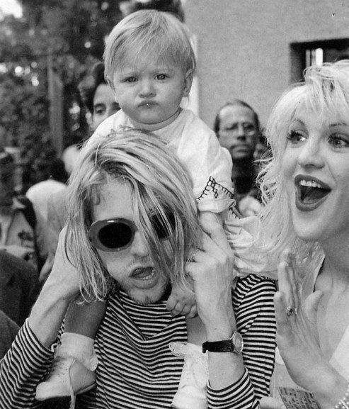 The Cobains -- Kurt, Courtney Love, and Frances Bean