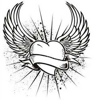 Plantillas O Diseños Tatuajes Tatuaje Corazón Pinterest
