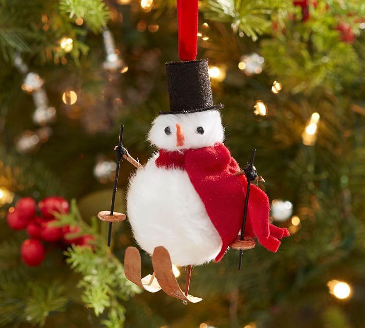 Skiing Snowman Ornament