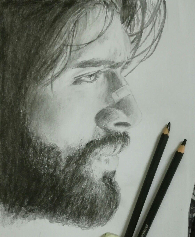 Arjun reddy fan art vijay devarakonda sketch pencil shading pencil sketching