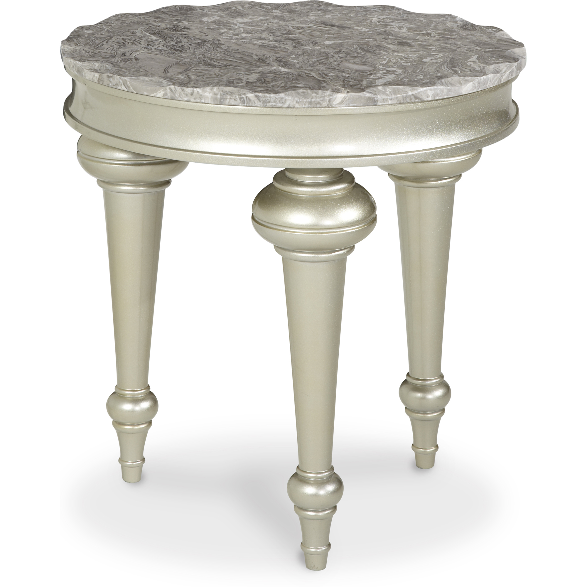 Hollywood Swank Chair Side Table in Cream | AICO | Home Gallery Stores