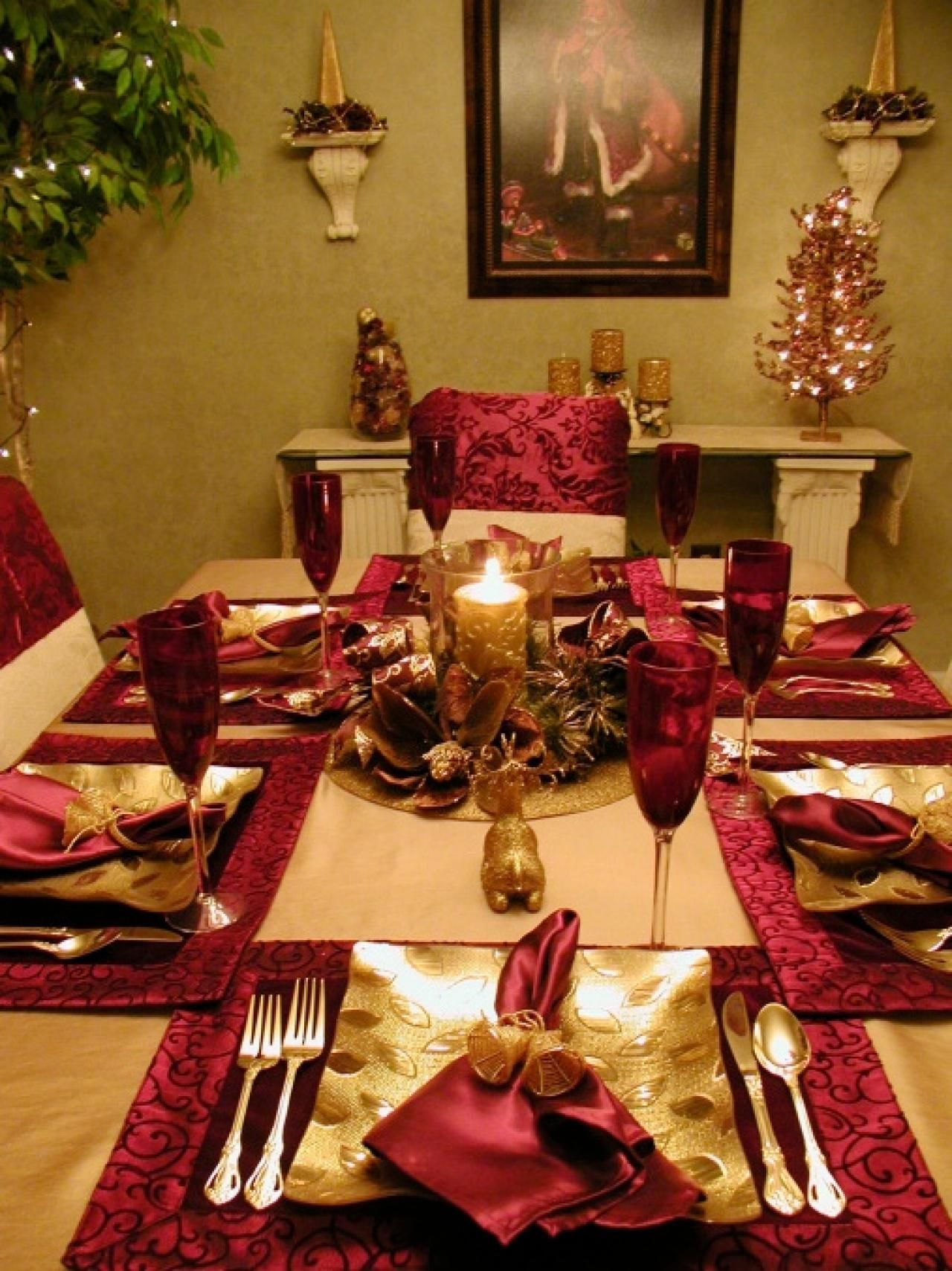 Red and gold christmas decoration ideas - Decoration Christmas Table Decorations Entertaining Ideas