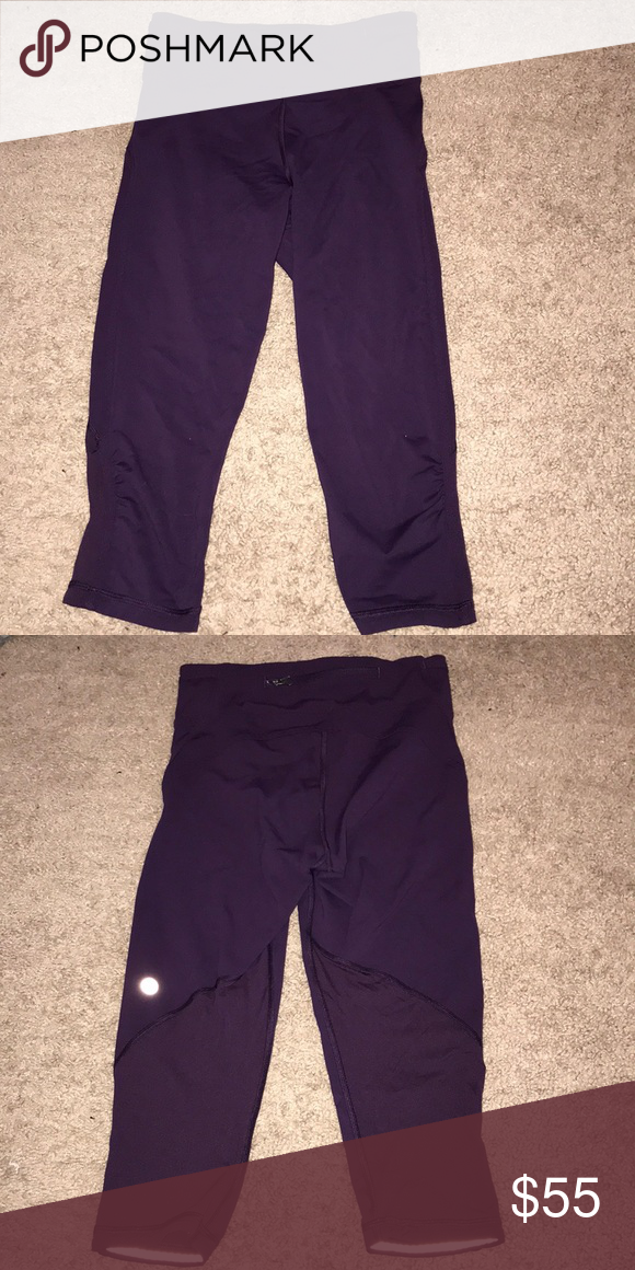 648e6c790d3 Lululemon Purple Mesh Cropped Leggings Cropped to right below the knee.  Extremely lightweight and comfortable. Only worn once! lululemon athletica  Pants ...