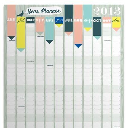 2013 yearly wall calendar cachete