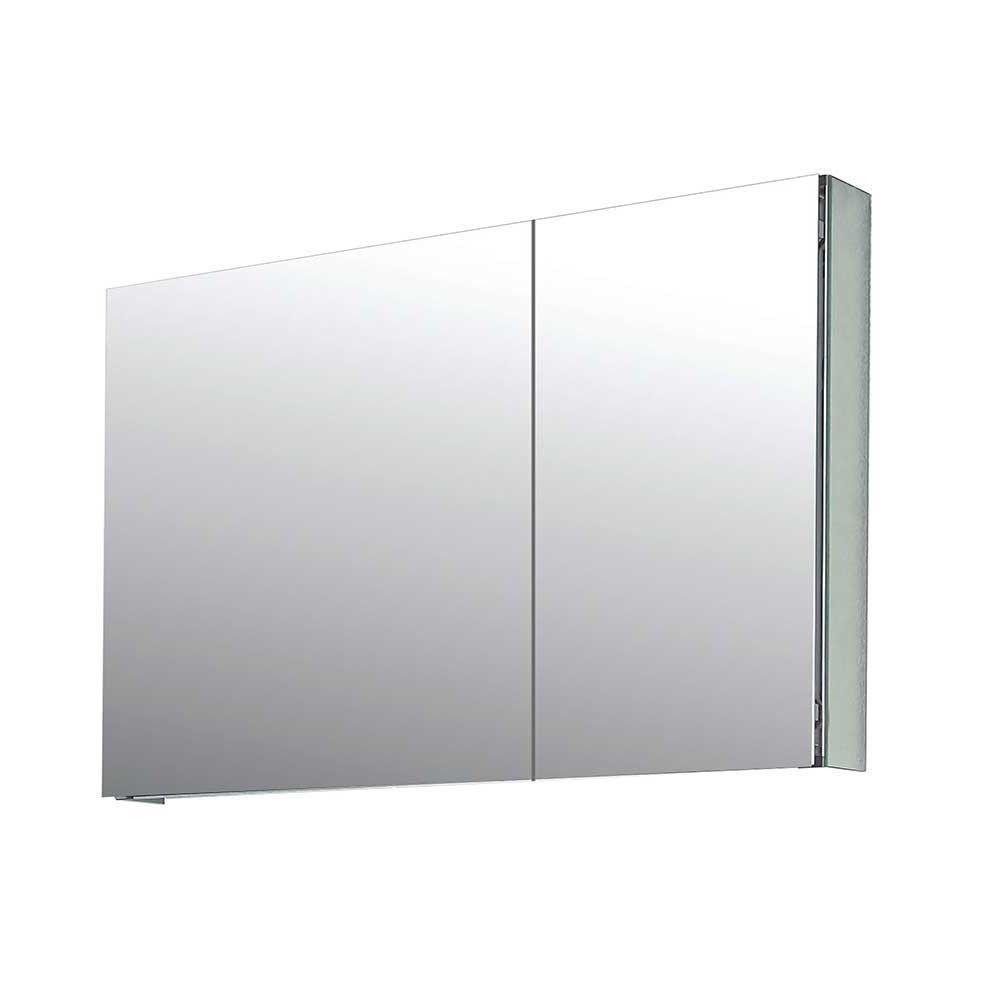 Flacher Spiegelschrank Fur Badezimmer Mit 2 Turen Led Optional Pisira Spiegelschrank Spiegelschrank Led Badezimmer