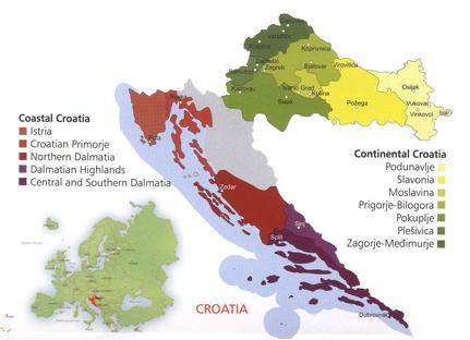 Croatia wine regions Wine map, Croatia map, Wine region
