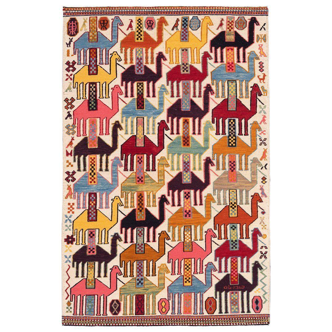 Heidarian فرش دستبافت On Instagram برگزیده های گلیم ش ما Schema طرح ش مای شتری طرح ش مای طاووس طرح Moroccan Leather Pouf Leather Pouf Handmade Artisan