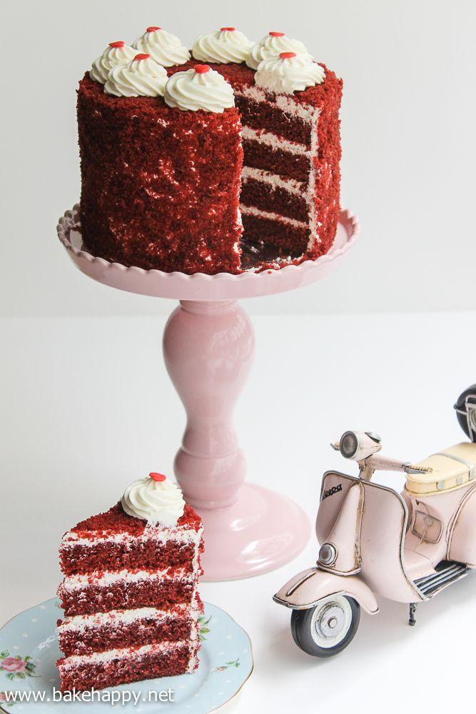 Super Moist Red Velvet Cake Recipe Bake Happy Red And Other Velvet Cake Cake Recipes Moistest Red Velvet Cake Recipe