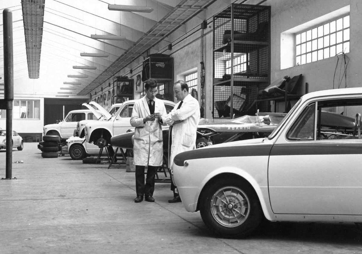 Abarth factory (Photo Abarth memories book) | Abarth | Pinterest