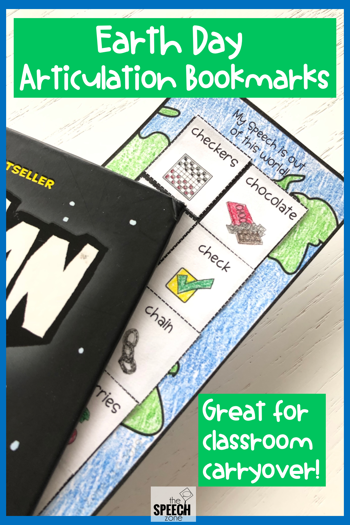 Earth Themed Articulation Bookmarks With Images