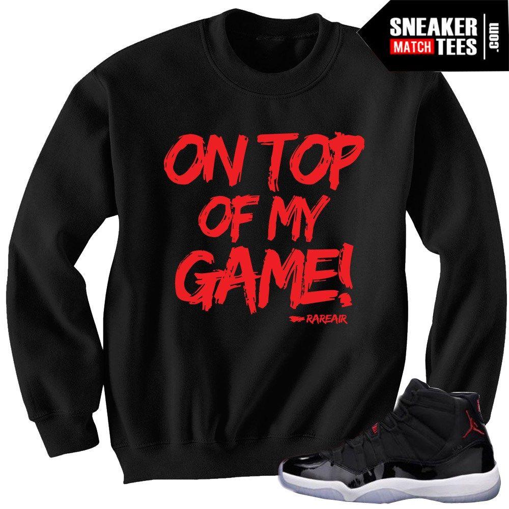 76f3a5de7c30b6 Jordan 11 Retro 72-10 matching sneaker tee shirts