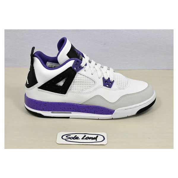 pretty nice 52d4c af015 ... canada air jordan 4 gs ultra violet liked on polyvore featuring shoes  jordans and sneakers cee11