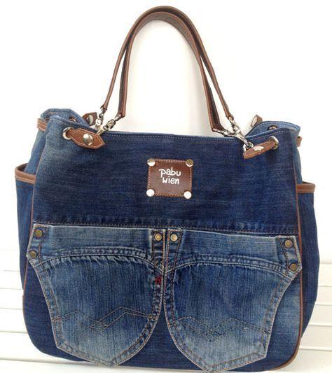 jeans taschen taschen pinterest jeans tasche taschen und jeans. Black Bedroom Furniture Sets. Home Design Ideas