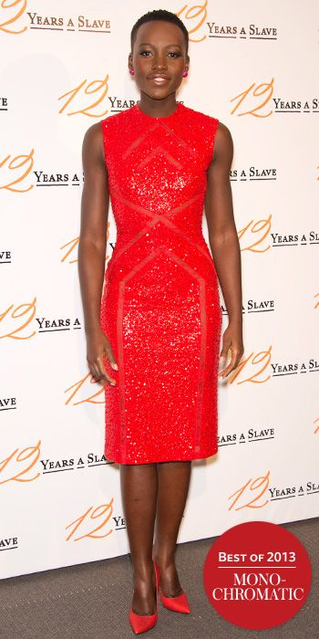 Look of the Day - December 30, 2013 - Lupita Nyong'o in Elie Saab #InStyle
