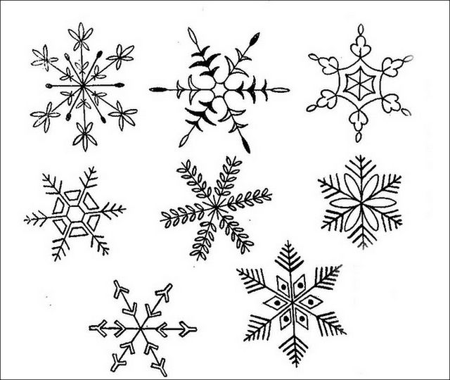 snowflake method template - snowflake ideas to use for hot glue ornaments winter