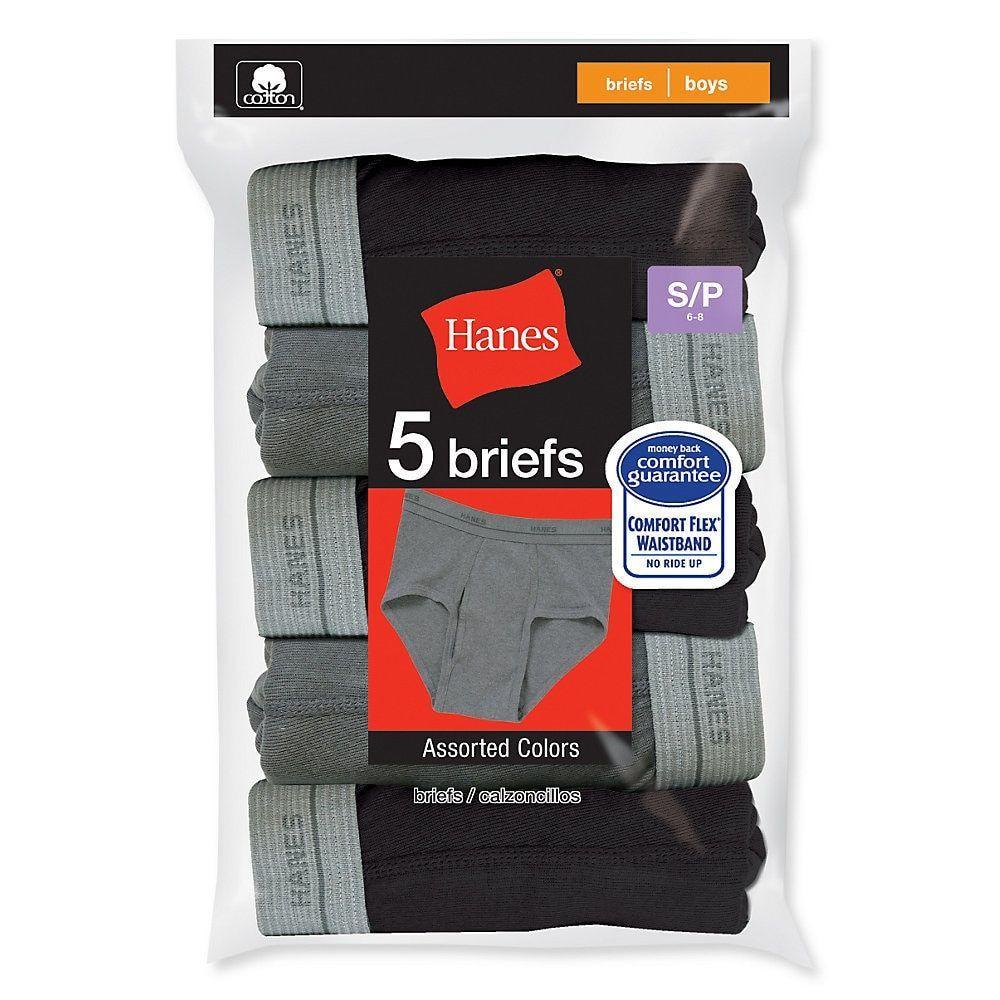 Hanes Boys' Dyed Briefs