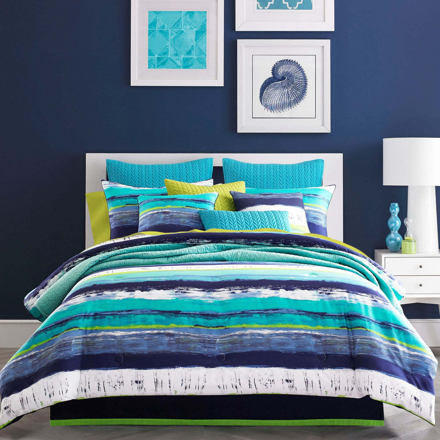 Connelly Blue Comforter Set Comforter sets