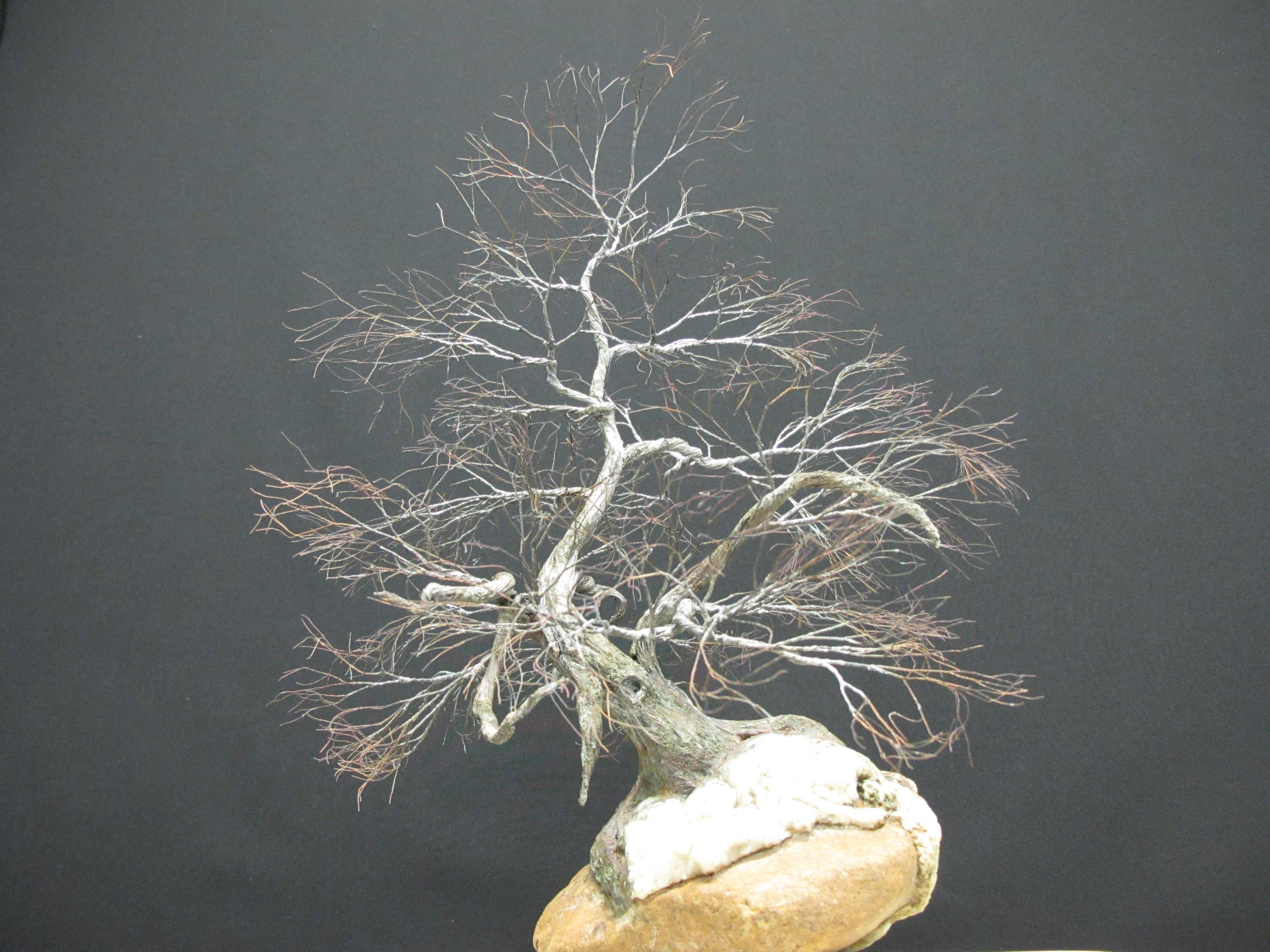 Copper wire tree - Bonsai or Penjing style - Recycled material ...