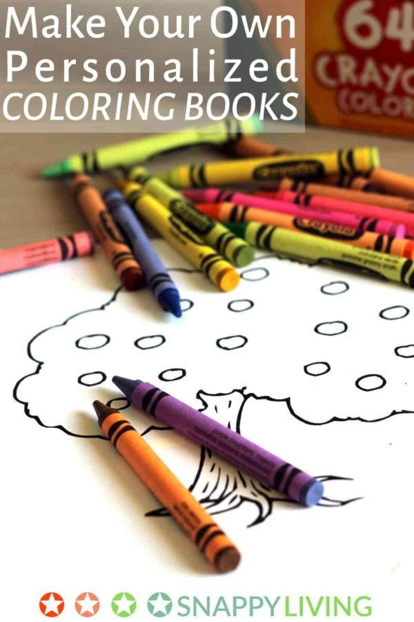 make your own personalized coloring books diy crafts pinterest