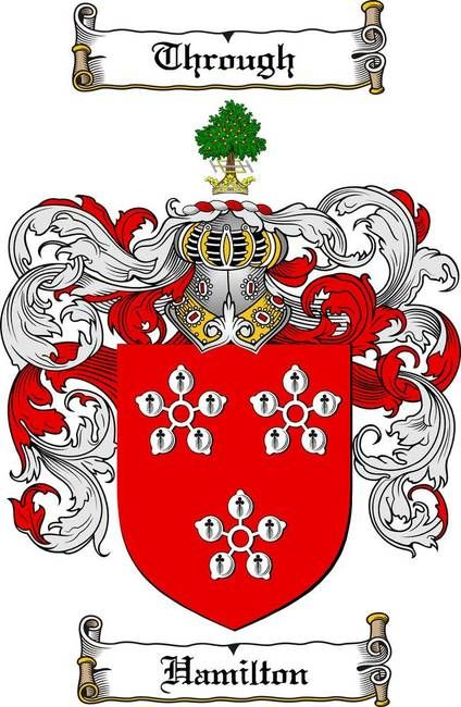 Hamilton family crest coat of arms gifts at for Buchanan clan tattoo