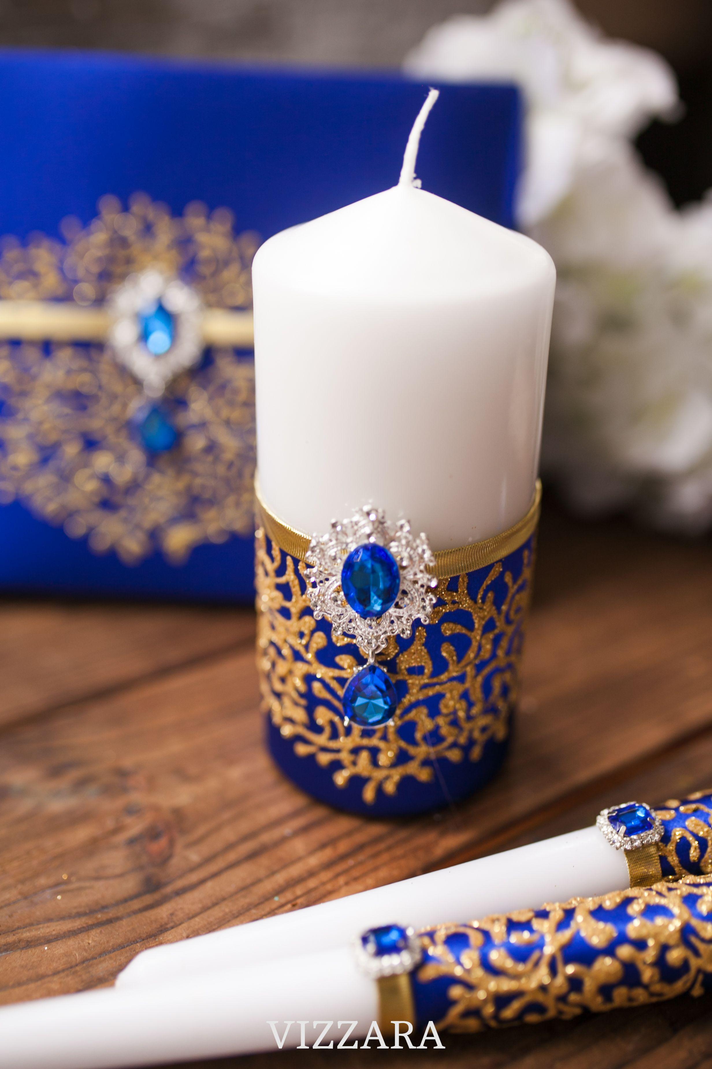 Unity candle sets Royal blue wedding Personalized unity candle Royal blue weddings Unity candles wedding Royal blue wedding color Royal blue