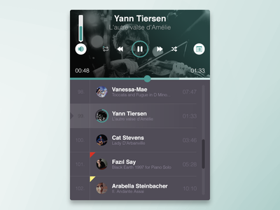 Music Player on UI Space