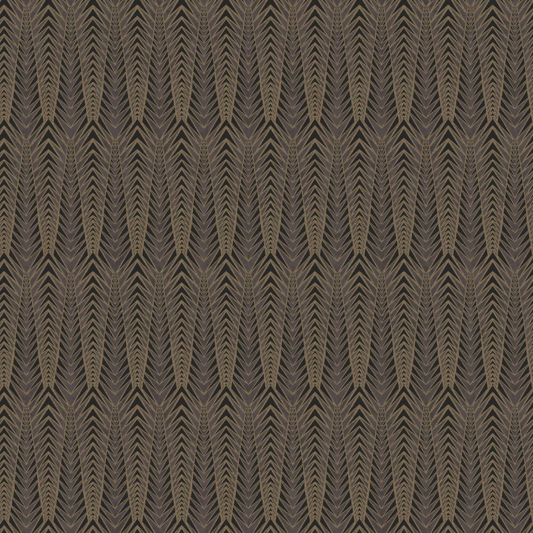 Gatsby Black Gold Art Deco Metallic Wallpaper Departments Diy At Bq