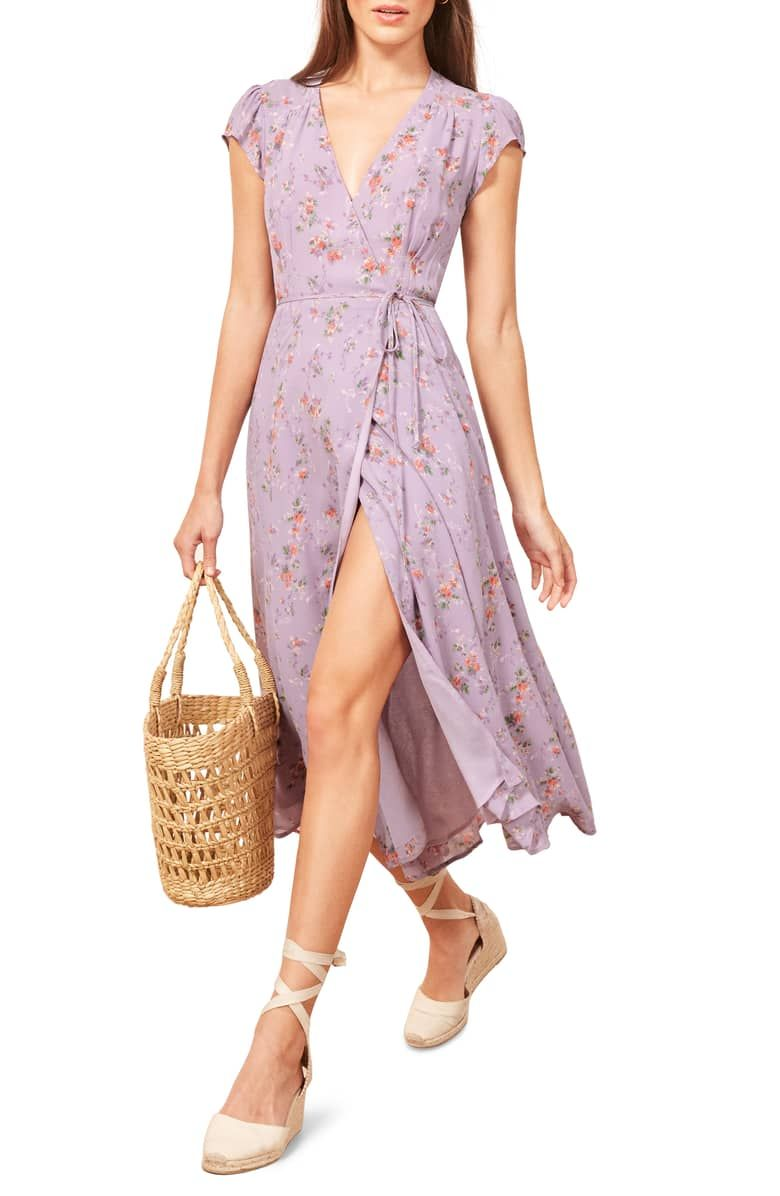 Reformation Carina Midi Wrap Dress Nordstrom Wrap Dress Size 12 Maxi Dress Women Clothes Sale [ 1196 x 780 Pixel ]