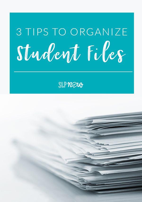 Student File Organization Slp Organization School Paper Organization Language Therapy Activities