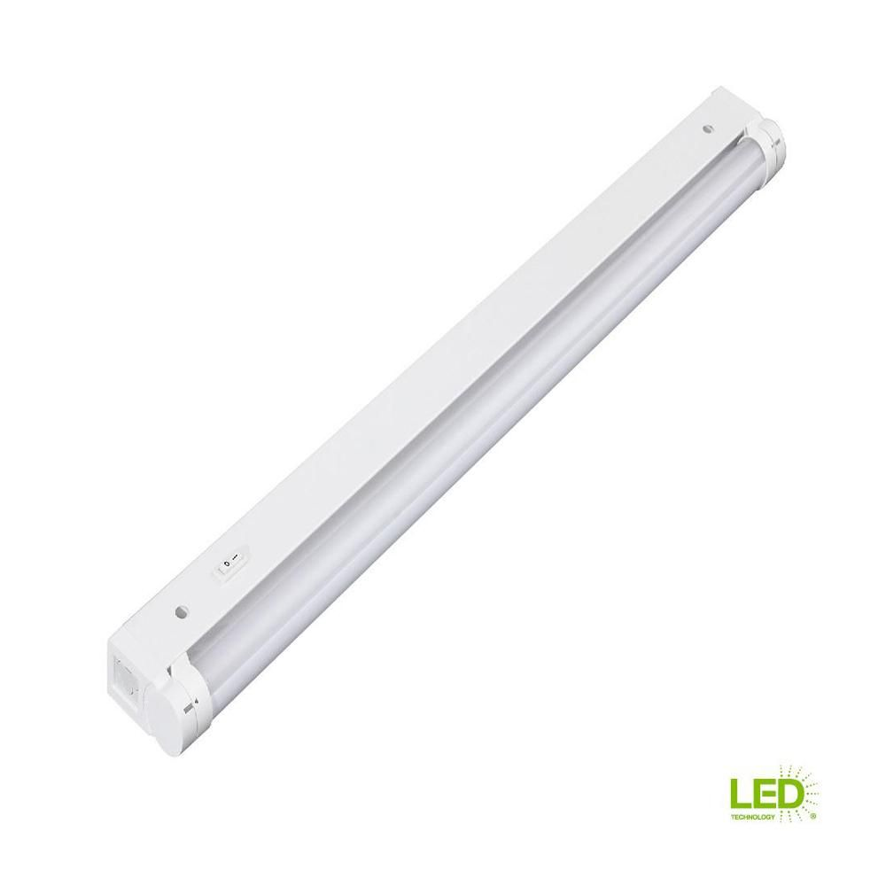 Led Light Strips At Home Depot Eti 24 In Led Plug In And Direct Wire Beam Adjustable Under