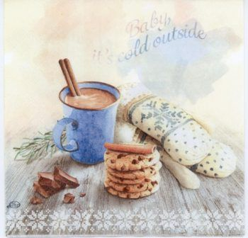 Event Paper Napkins of Hot Chocolate and Cookies #papernapkins
