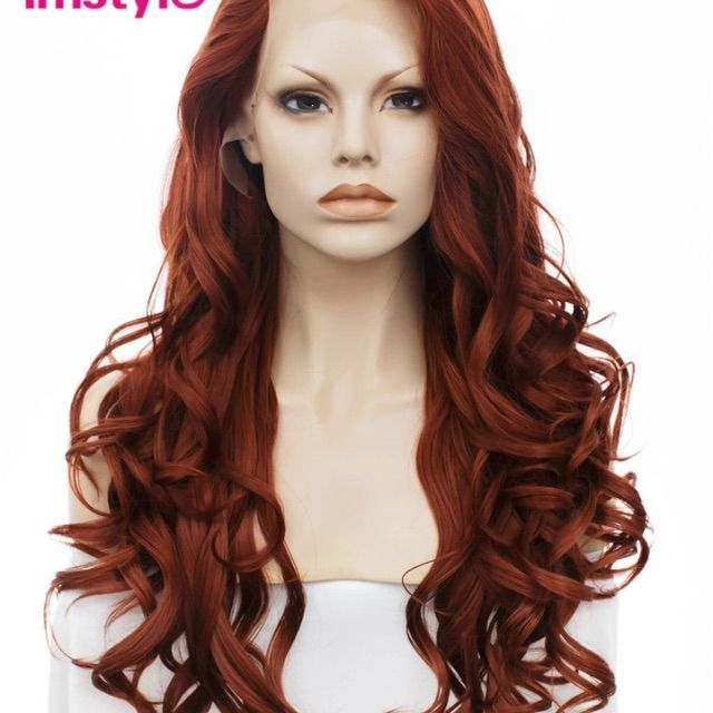 Long Red Wavy Hair Wig Pinterest Products