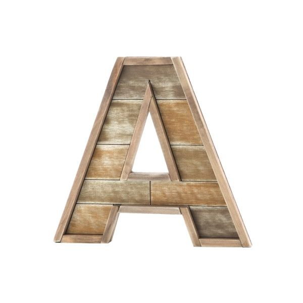 10.5 inch Decorative Barn Wood Letters ($8.97) ❤ liked on Polyvore featuring home, home decor and office accessories
