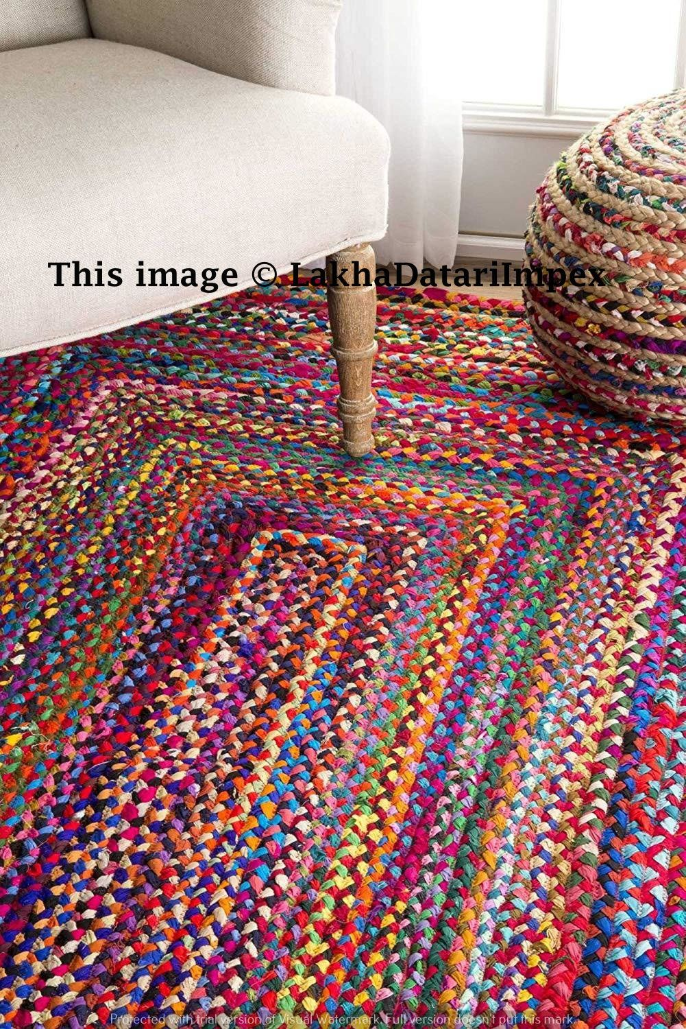 Multi Color Floor Decor Rugs Indian Braided Cotton Rug Rag Hand Woven Natural Area Rugs For Home Decor Rugs Liv Braided Area Rugs Braided Rag Rugs Braided Rugs
