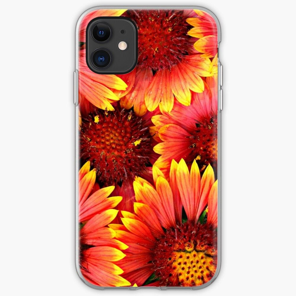 'Beautiful Pink Yellow Daisy Flower Pattern' iPhone Case
