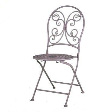 Necr Folding Chairs Antique White Wrought Iron Chair