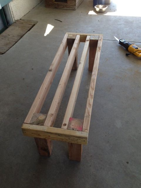 Photo 5 Diy Pallet Bench Diy Pinterest Pallet Bench
