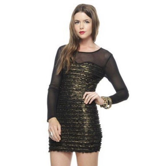 Forever 21 Black Gold Tier Dress Products Pinterest Dresses