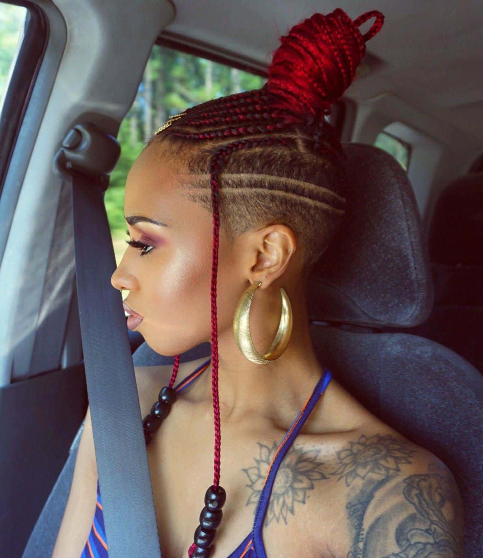 Feed In Braids With Shaved Sides/Back #feedinBraided In