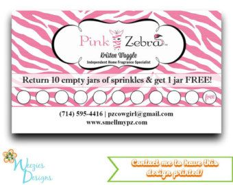Pink Zebra Frequent Buyer Card Business Card By Weeziesdesigns Card Template Printable Business Cards Pink Zebra