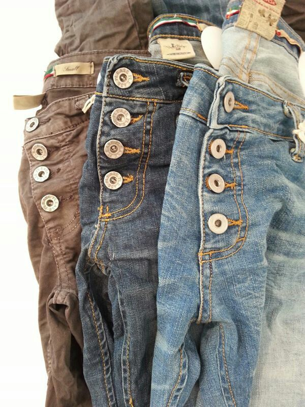 PLEASE JEANS ♡ button fly front