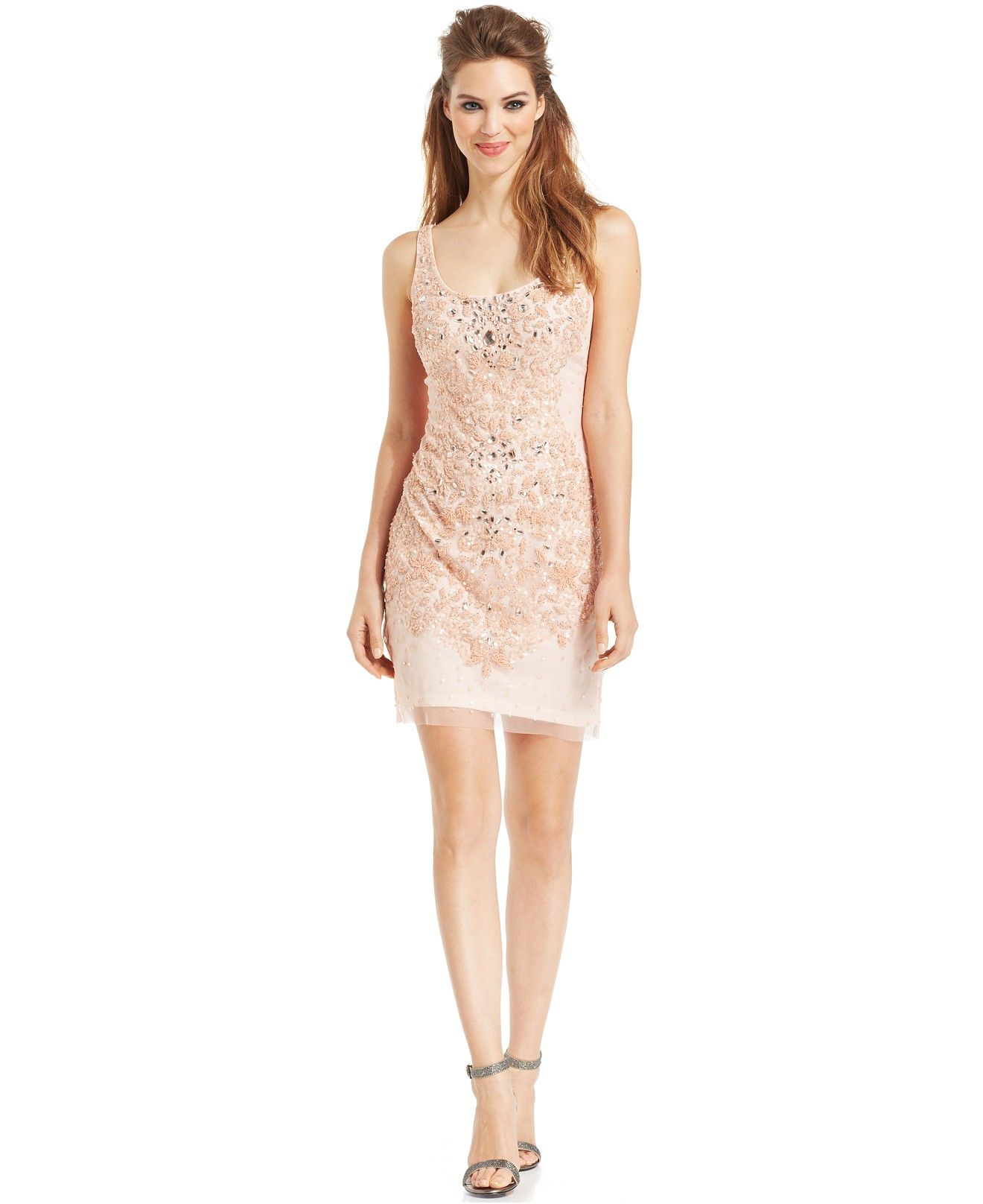 Adrianna papell floral embellished sheath bridesmaids women adrianna papell floral embellished sheath bridesmaids women macys ombrellifo Images