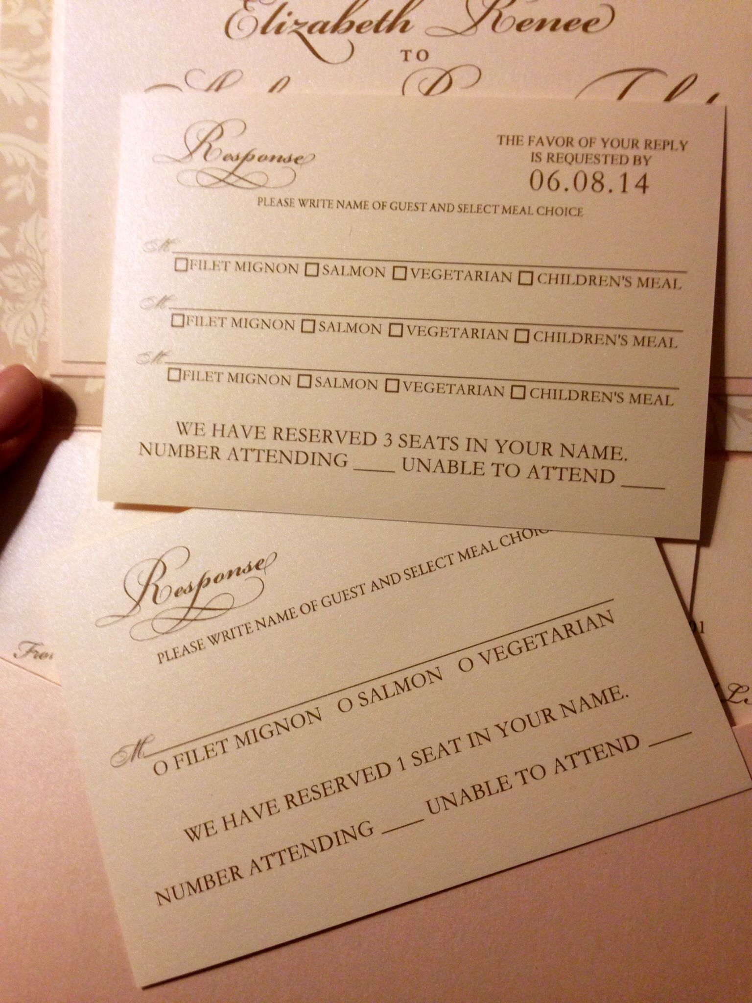 Clever way to write RSVP cards so guests don't have to
