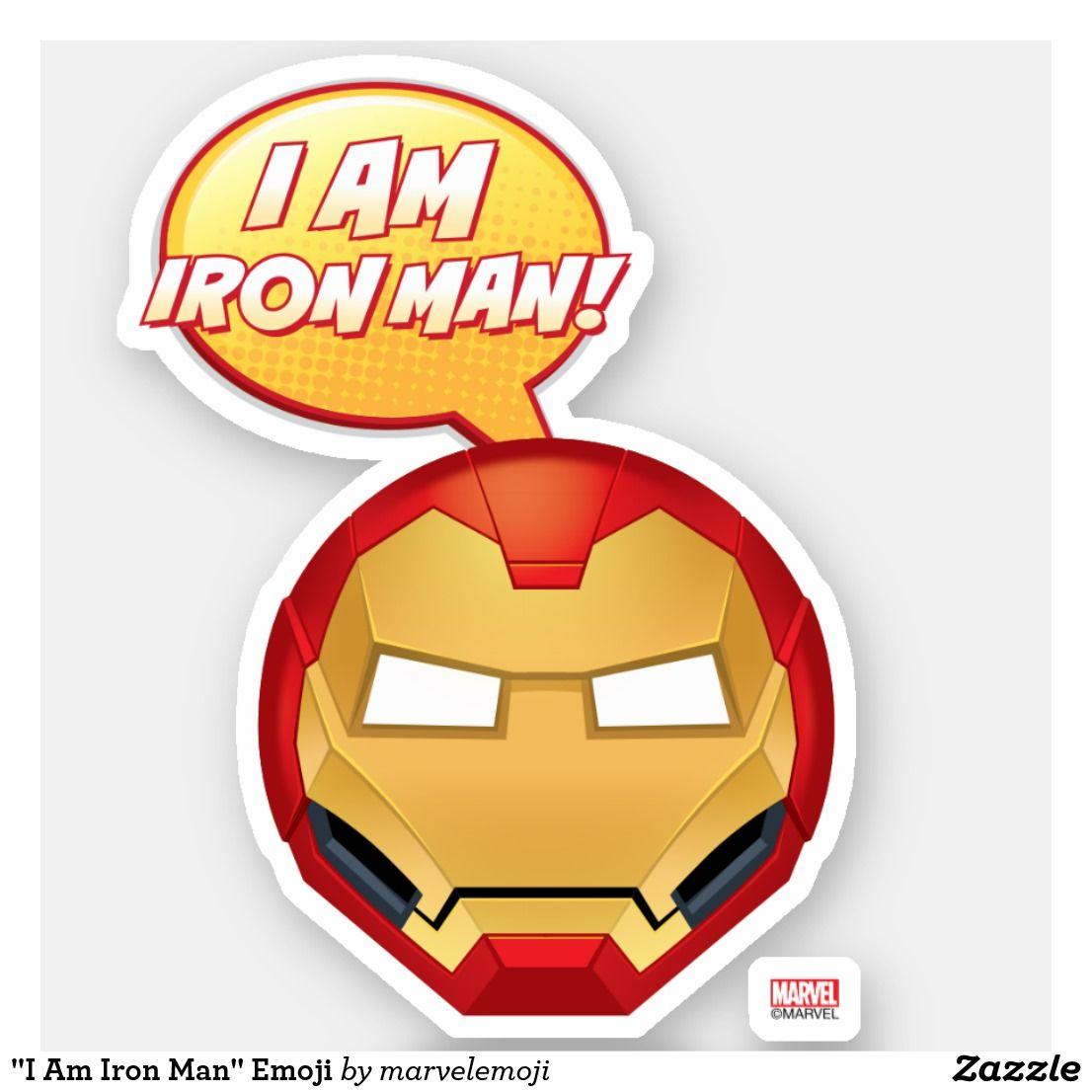 I am iron man emoji sticker