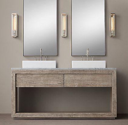 Vanities sinks restoration hardware bathrooms for Restoration hardware bathroom cabinets