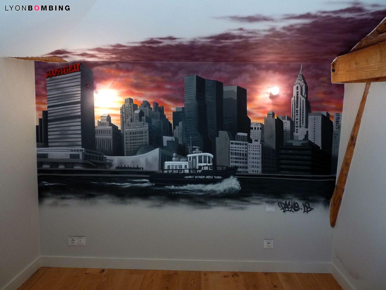 Chambre slyline New York - Chambre - LYONBOMBING  Deco chambre