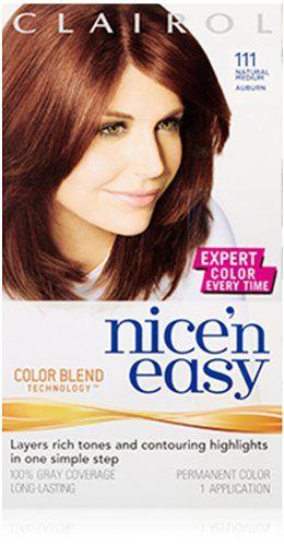 clairol nice n easy hair color 111 natural medium auburn pack of 3 - Clairol Nice And Easy Hair Color